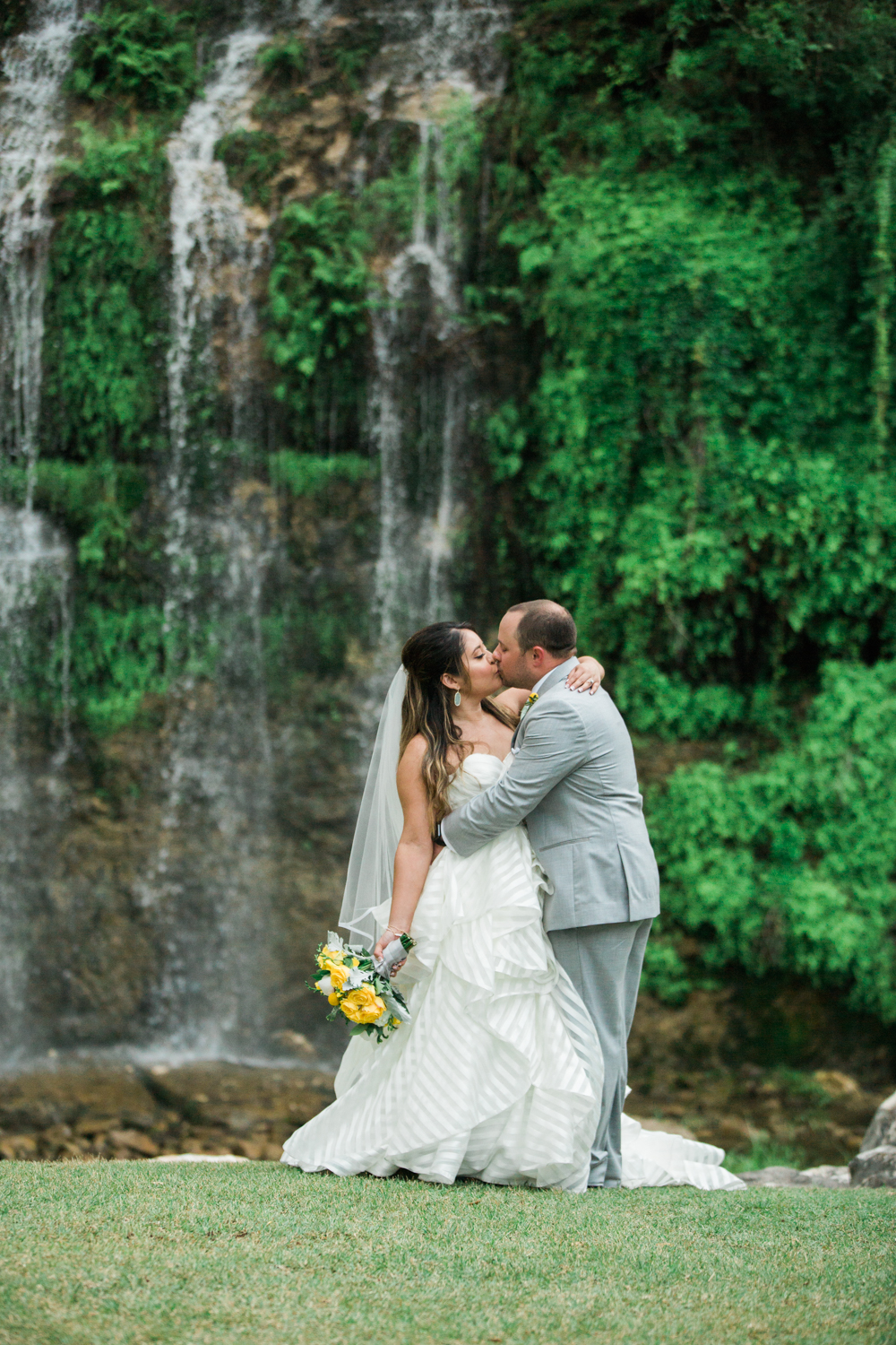 first kiss - wedding photographers