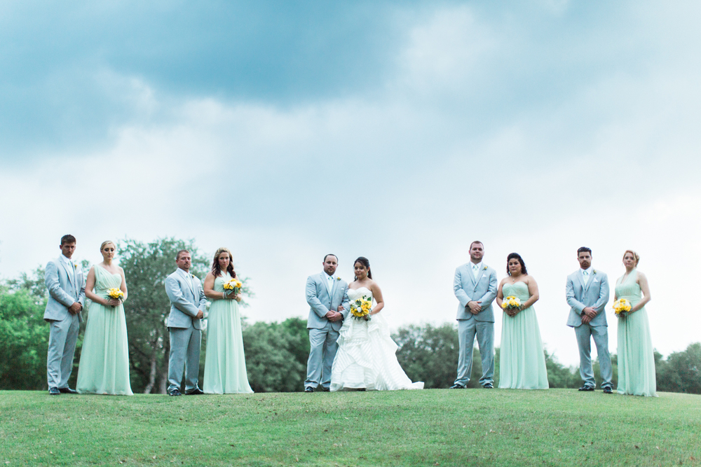 golf course wedding - bridal party