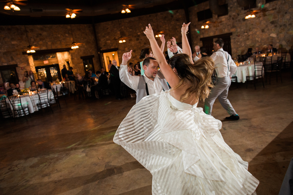 wedding party dance floor