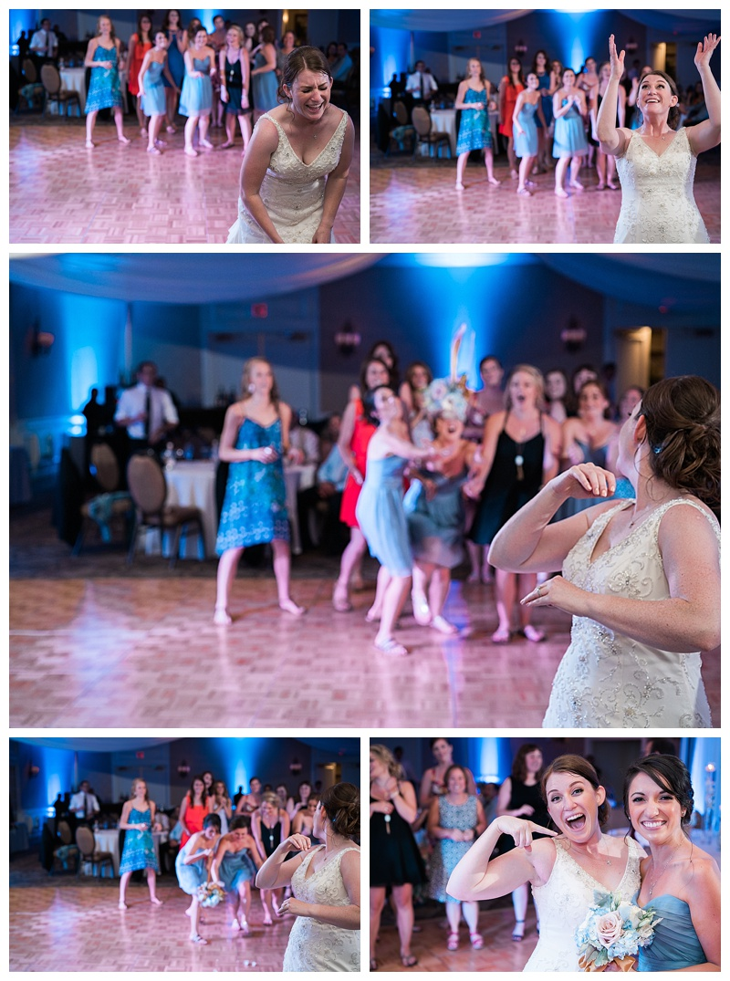 Bouquet Toss - La Mansion Wedding