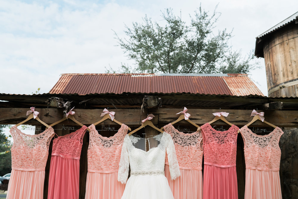 dresses, pink, white, wedding