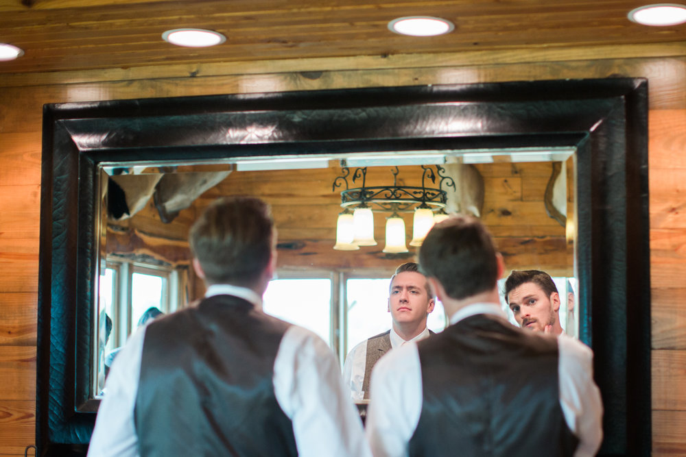reflect - groomsmen - honey creek wedding