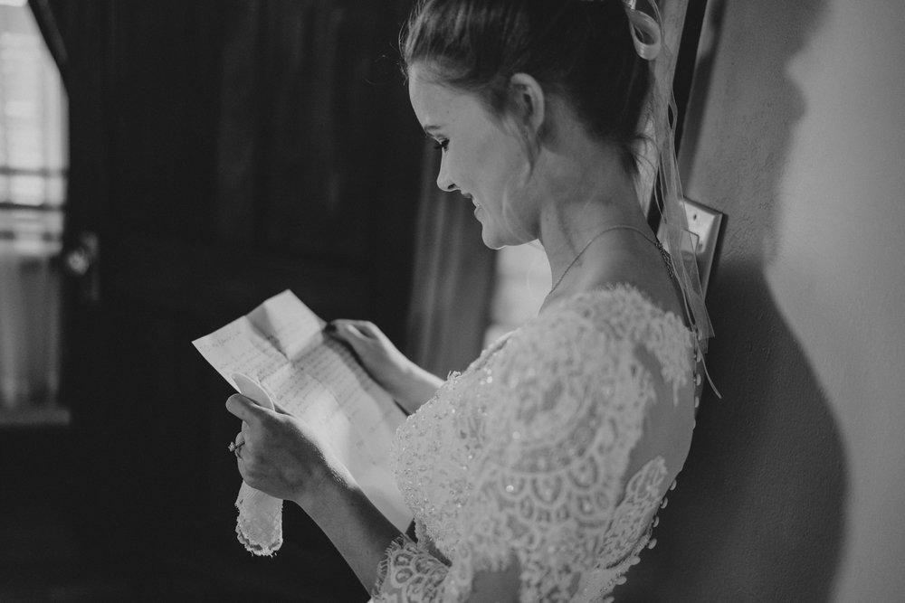 bride first touch - letter of love