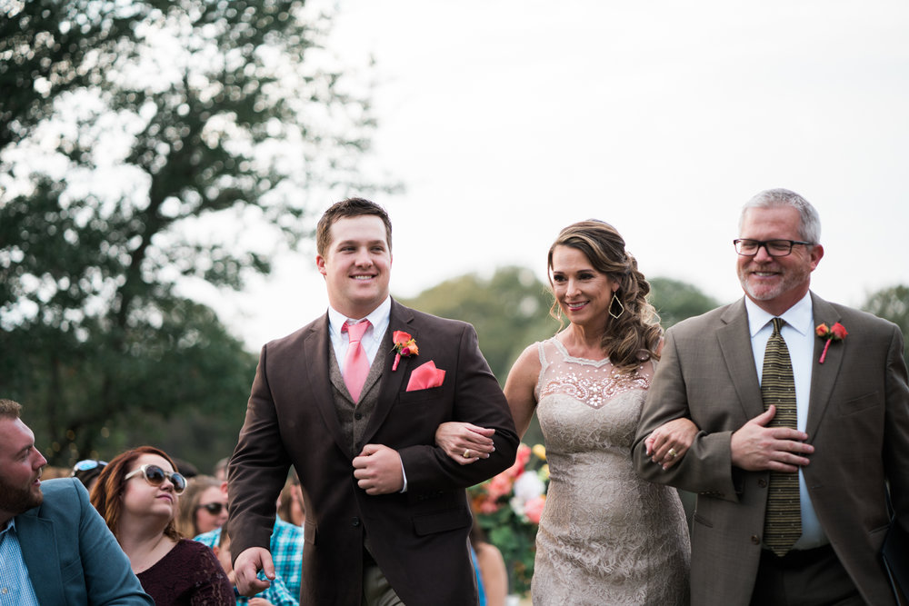 groom and his parents - texas wedding