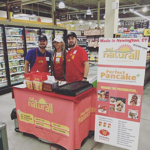 Come visit us at Whole Foods Blue Back Square and try our delicious Perfect Pancake + Mix we're here from 11-3 p.m  #wholefoods#demo#sampling#glutenfree#grainfree#dairyfree#soyfree#westhartford#westhartfordshopping#allnatural#fitness#cleaneating#health#healthybreakfast#snack#proteinpancakes#ctrw#ctown#local#food#nutrition#bodybuilding