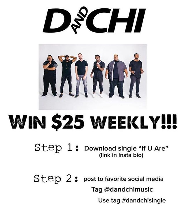 "Want to win $25?! Just download our single ""If U Are"" (link in bio) and then post a screenshot and tag us at @dandchimusic, as well as use the hashtag #dandchisingle! Winners will be selected at random!"