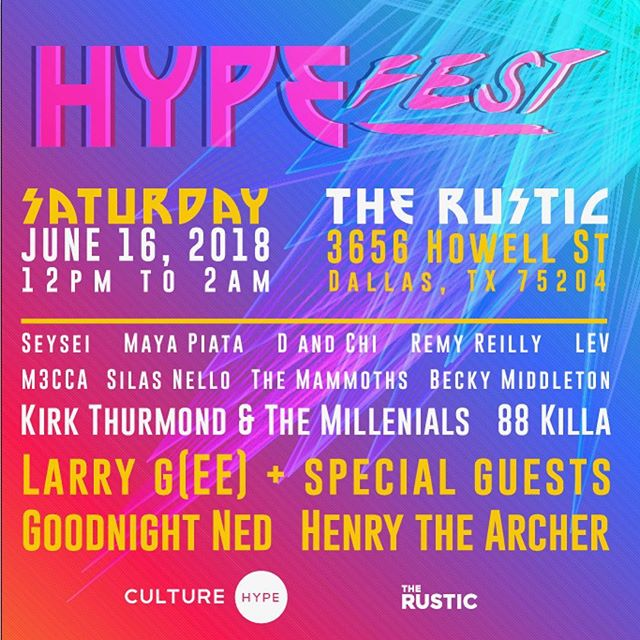 Casting our gaze on the weekend! Don't miss #hypefest18 we're playing alongside TONS OF TALENT! We go on at 5:30 so come and kick it with us!