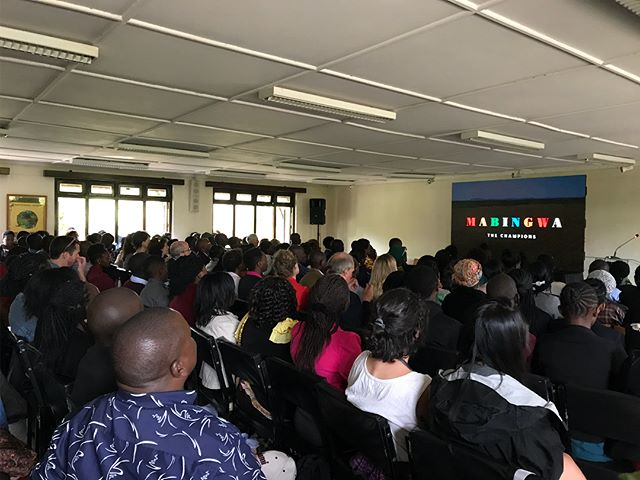 Away we go! The Kenyan premiere of Mabingwa began with a packed morning session at @kenyawildlifeservice and continued at Brookhouse School in Nairobi. Both screenings were followed by briefings from @welltoldstory panel discussions and audience questions. A fantastic day. #mabingwa