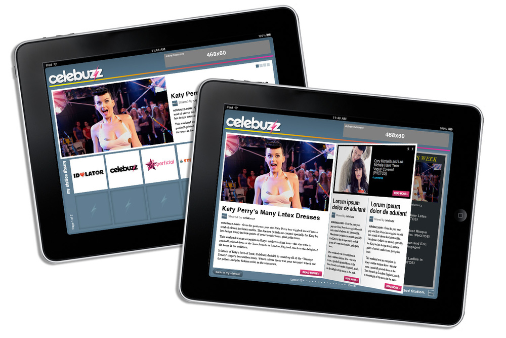 CELEBUZZ IOS FLIPBOARD