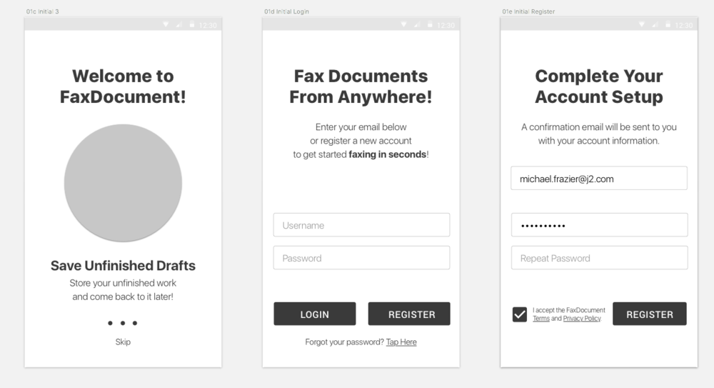 5. Wireframes I commonly use sketch to build symbol libraries and simple wireframes to quickly iterate before design.