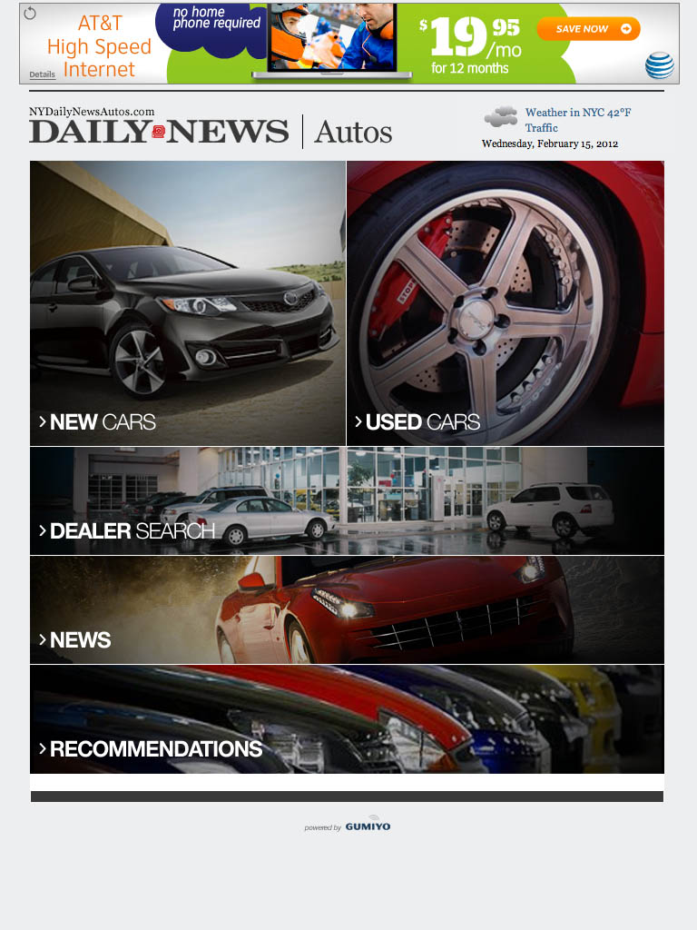 NYDN Autos - Tablet Home