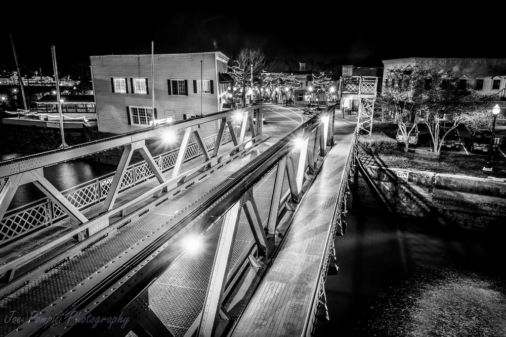 Bridge and Village B&W (#12S)