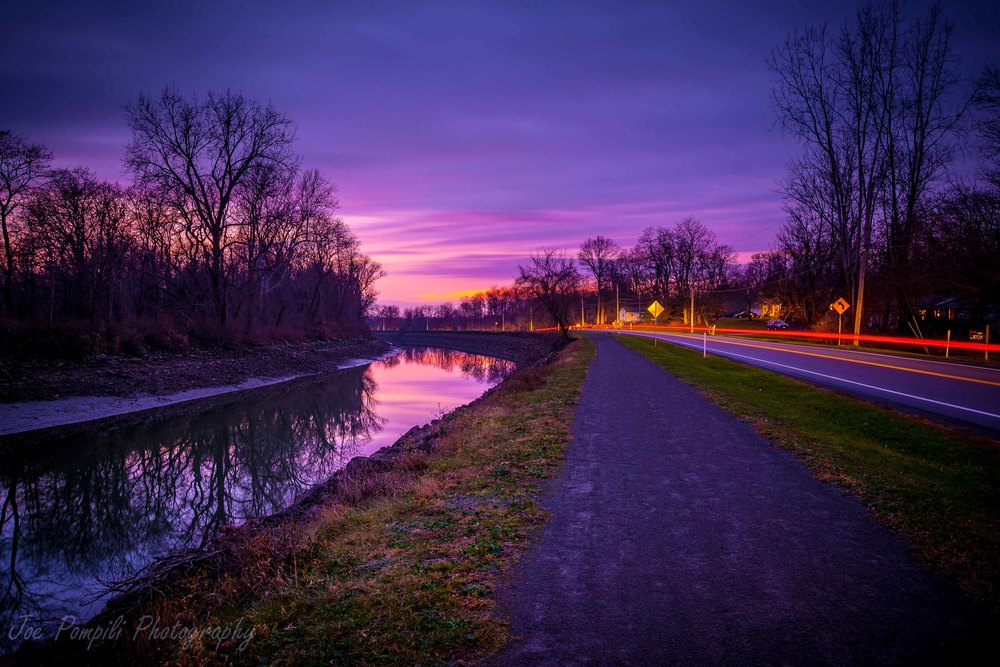 Erie Canal Purple Sunset with Tailights (#1EC)
