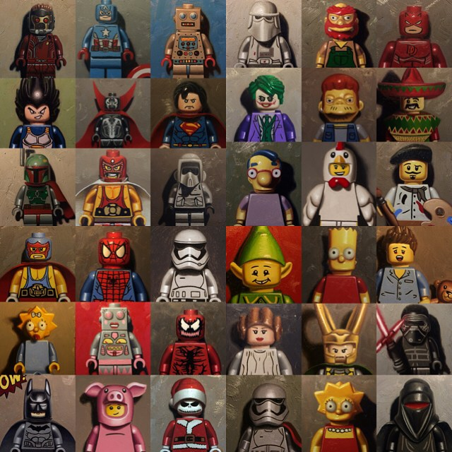 I got a little more than half way to my goal of making a book. Did over 70 lego paintings this year aside from my solo show and other group show stuff. Hopefully I can be more productive this coming new year. Thank you all of you for the support. Happy new year.