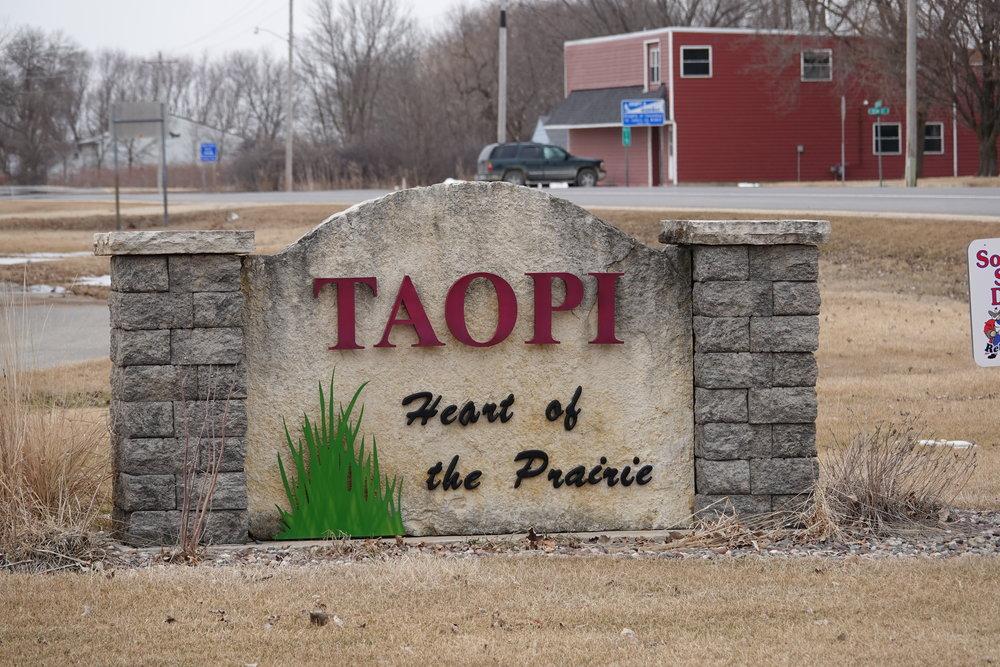 Taopi, Minnesota (Mower County) has a population of 58.