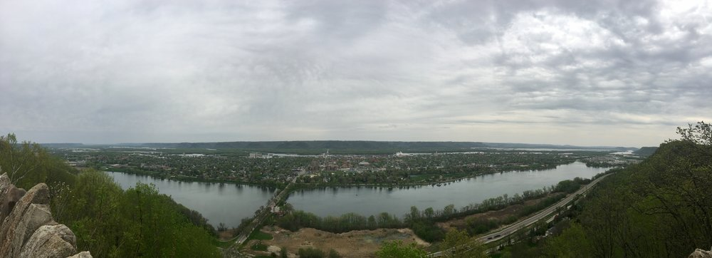 A long view from Gavin Heights Park in Winona, Minnesota.