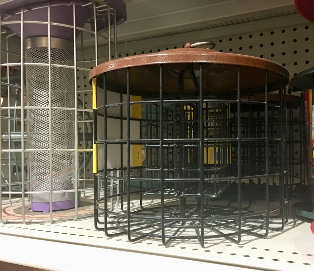 "Caging feeders could keep larger birds out. Emphasis on ""could."""