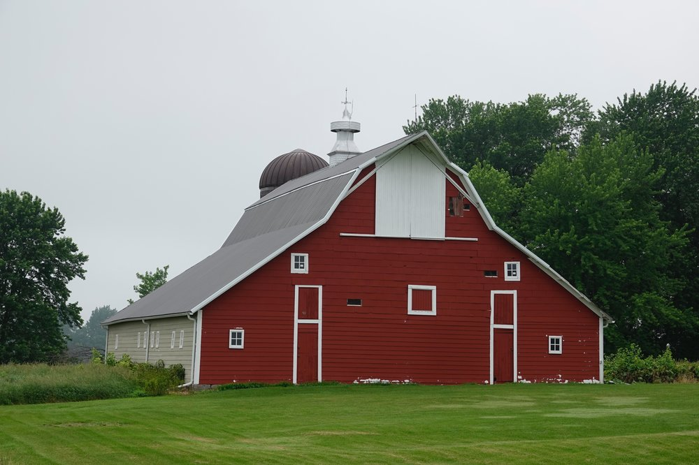 Whether you call it a haymow or a hayloft, this old barn is lovely and that ain't hay.
