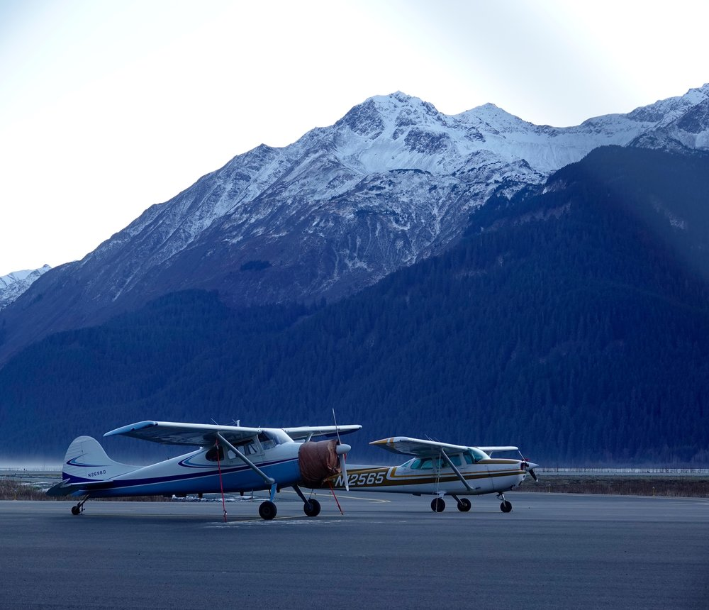 Haines, Alaska, where the mountains rise from the planes.
