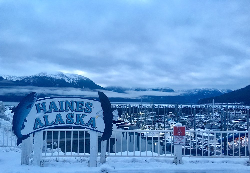 Haines, Alaska, in the early morning.