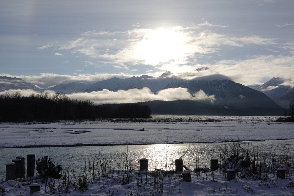 The view from the village of Klukwan in Alaska.
