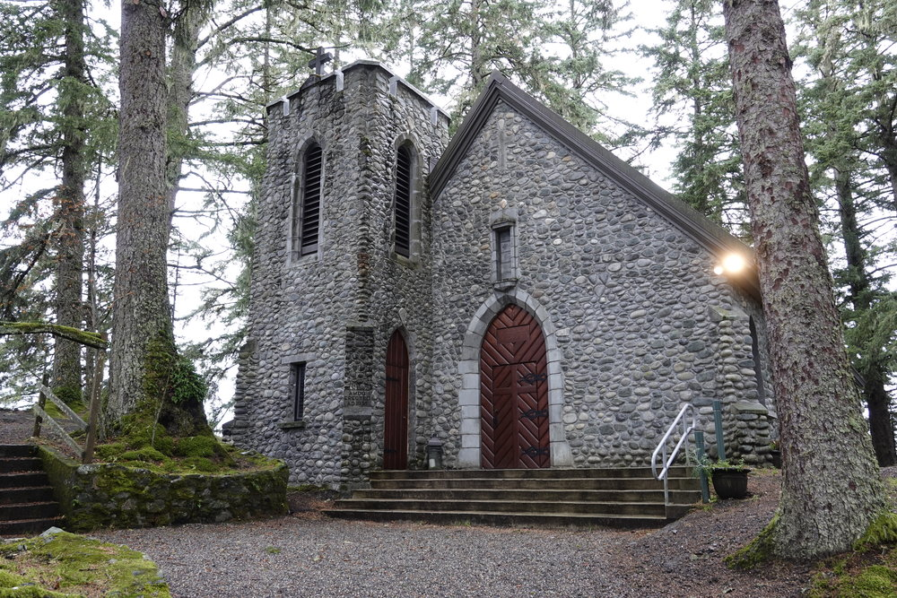 The Shrine of St. Therese's in Juneau, Alaska. A lovely place to be quiet.