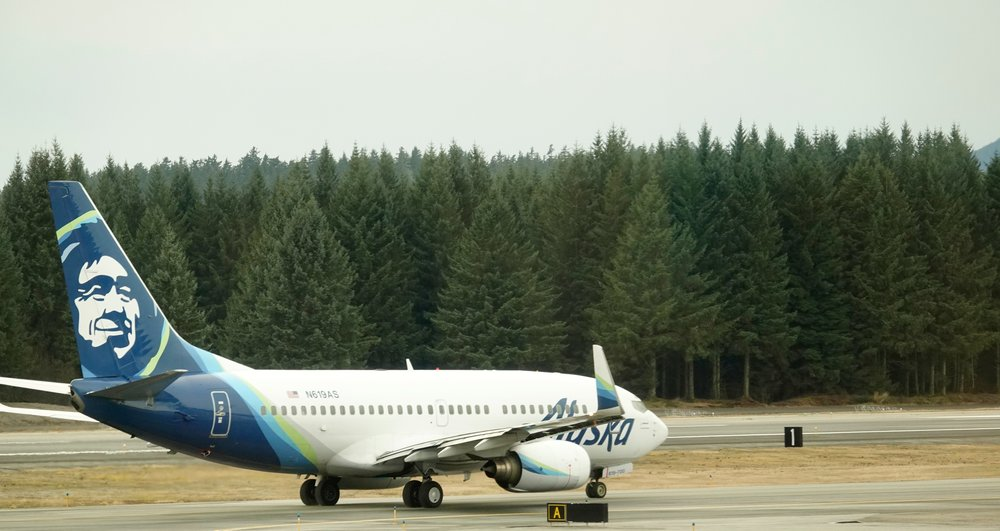The good folks at Alaska Air always seem to be happy to see me. They may be pretending, but I don't care.