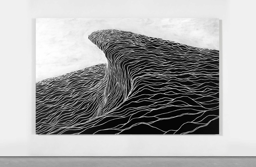 Untitled (Wave I) 250 x 180cm Acrylic on Canvas SOLD