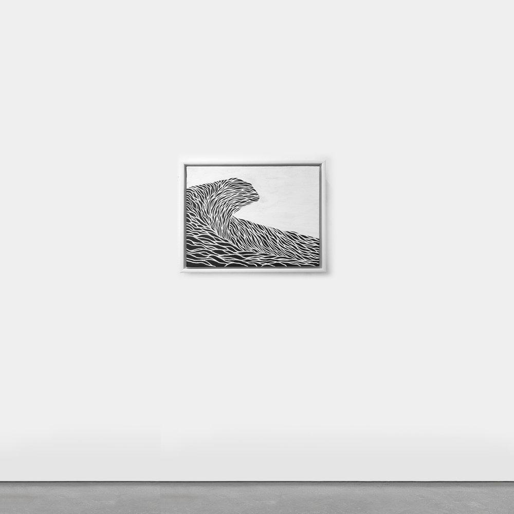 Untitled (Wave VI) 31 x 40cm Acrylic on Canvas   Enquire