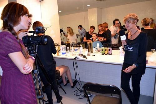 Un momento de la entrevista realizada en el backstage.