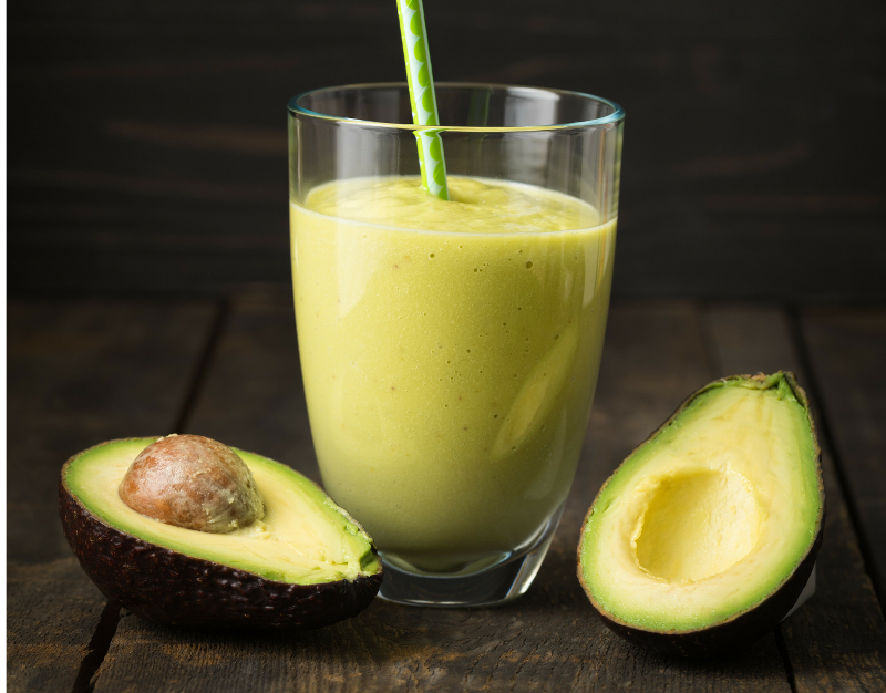 Homemade avocado puree