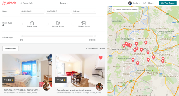 Airbnb Screenshot Family Home