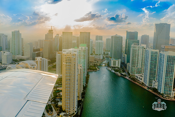 downtown miami aerial photo