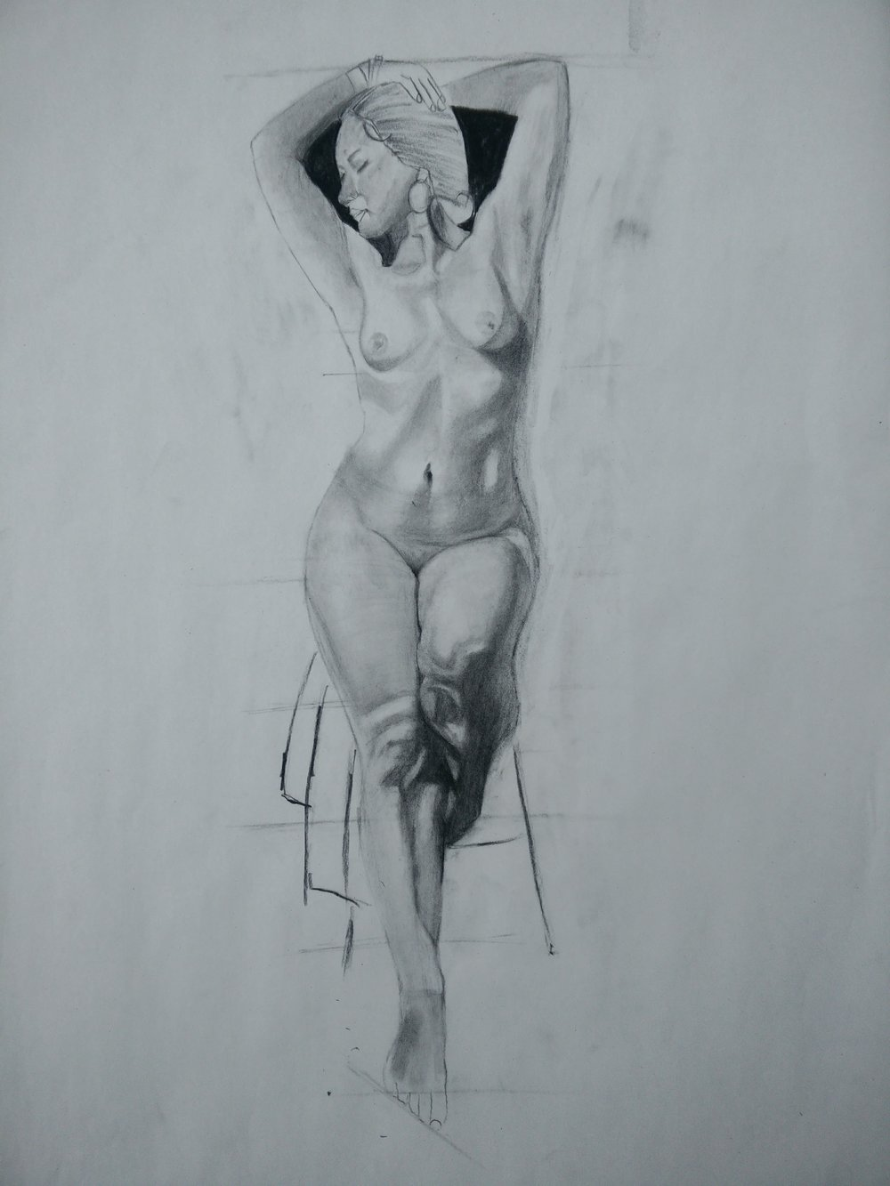 Art of Drawing Figures: - Thursdays, 6:00 pm to 7:00 pmExperience drawing the human figure with the guidance of a skilled artist. This course is about drawing lifelike drawing of male and female body with charcoal. In this course you will learn sketching of the nude body structures - both male and female - in a simple and effective way through step by step teaching mechanism. The learners are surely going to enjoy geometry behind the human anatomy, and get benefitted from this course.  The materials used to create the artwork are compressed and vine charcoal, eraser, kneaded eraser, sharpener, Art paper. No live models. Instructor will use digital images and live recoded models for a reference drawings. Level: BeginnerSupplies: All supplies included.
