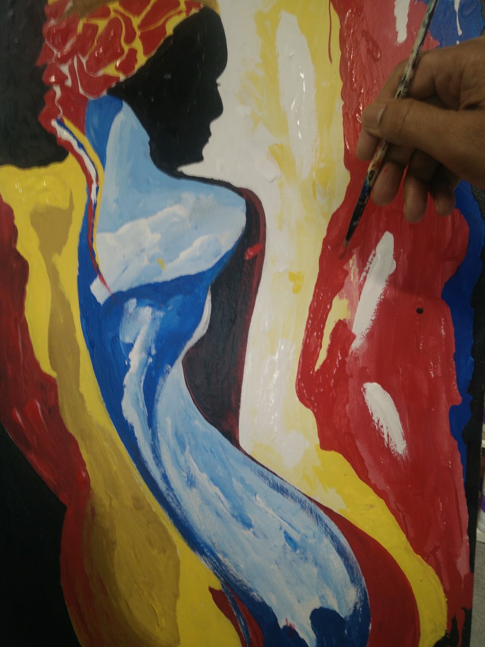 Painting The Abstract Figure. - Wednesdays and Saturdays, 90 minutes sessionIf you ever wanted to learn how to paint the freestyle abstract figure? this session is for you. Join the two hours of artistic journey of Abstract Figurative Painting with vivid acrylic colors on 16 X 24 drywall panel. No prior experience required. The instructor will show you how to quickly sketch and walk you through various painting techniques. No live model. You will create from fresh and bold new interpretation of undraped human figure from original paintings of our instructors. Level: BeginnerSupplies: All supplies included.