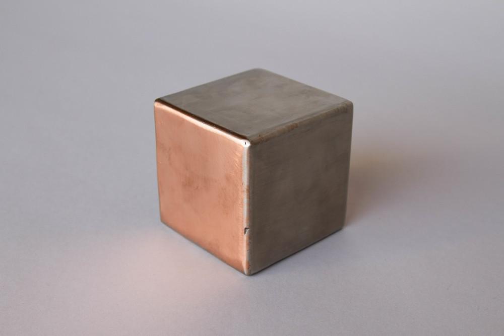 Mixed metal cubes elektra steel - Cube metal rangement ...