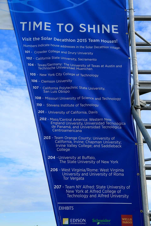 Detail of entrance banner.