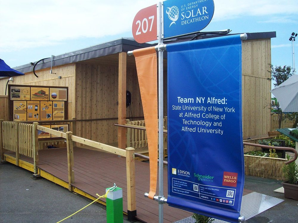 Each house on the Solar Decathlon field gets a number and a sign to improve visitors navigation from house to house.