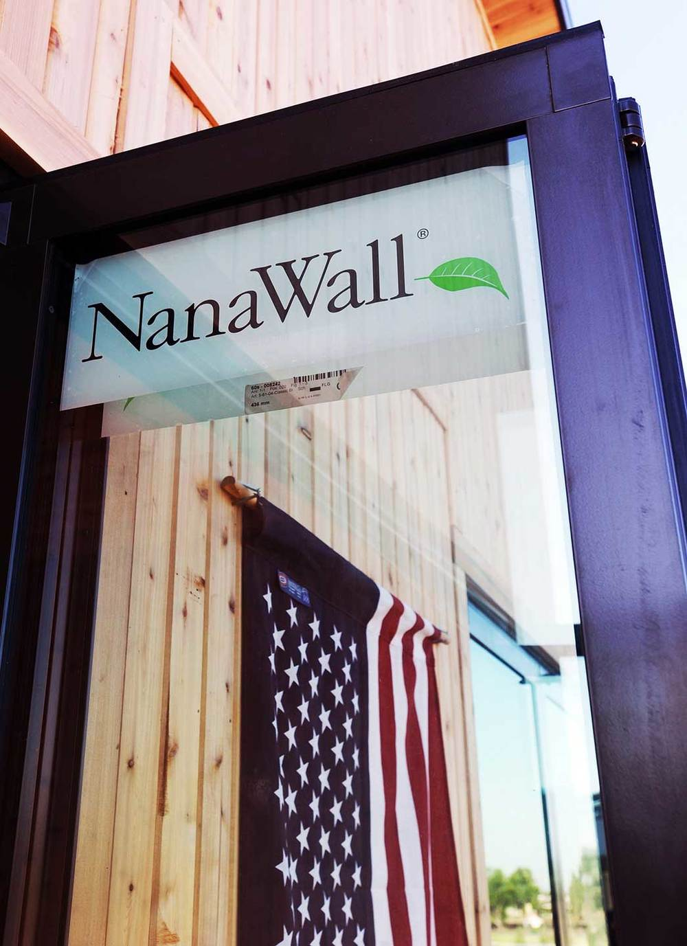 Our NanaWall doors.