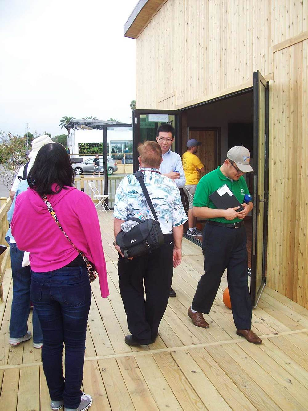 Visitors exchange discussions on our homes systems and exchanging personal stories on our large porch.