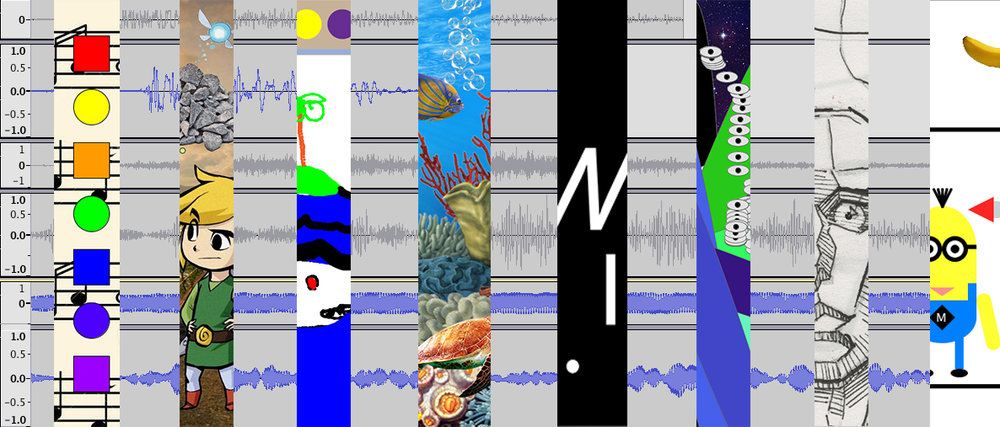 slices of past student audio and interactive projects