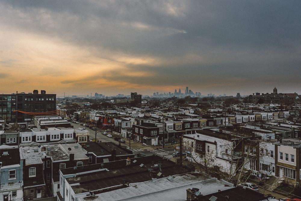Philadelphia cityscape from Kensington