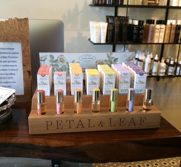 Petal & Leaf display at   Vert Beauty