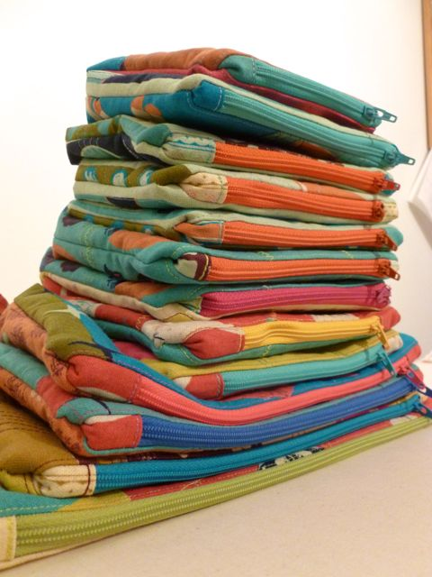Stacks of Zippered Stash Bags
