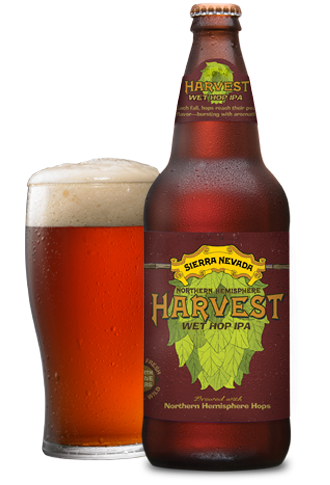 4.  Northern Hemisphere Harvest Wet Hop IPA  by Sierra Nevada Brewing Co.