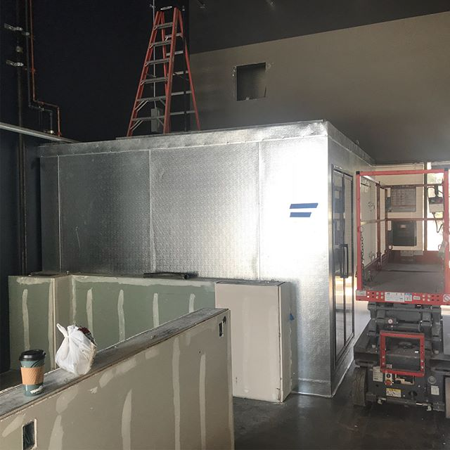 Getting close to the finish line with this monster brewery going in Anaheim. We are installing two 16 product towers in the tasting room. One 24 product system in the events room. We also installed two walk in coolers for tasting room kegs and production kegs. Stay tuned for the grand opening.