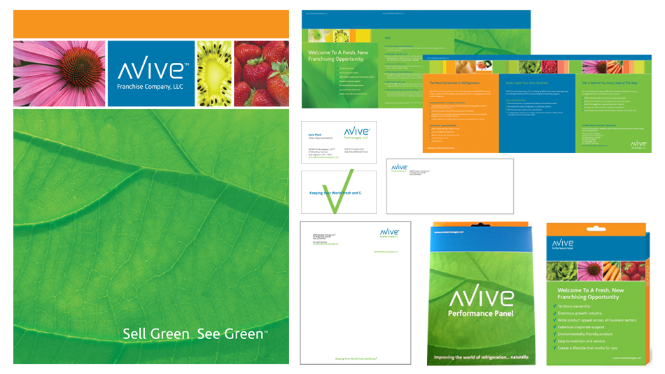 AVIVE TECHNOLOGIES - FRANCHISE - FOLDER, BROCHURE, STATIONARY, PACKAGING