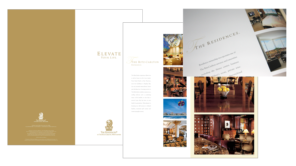 THE RITZ-CARLTON - THE RESIDENCES - WESTCHESTER, NY - BOOKLET