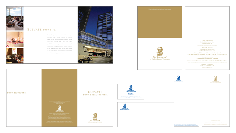 THE RITZ-CARLTON - THE RESIDENCES - WESTCHESTER, NY - AD, INVITE, STATIONARY