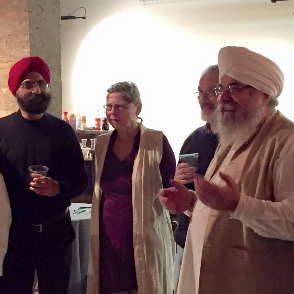 Surjit Singh Rajpal, Martha Adrienne (Kamal Prem Kaur) Larry Connell and Shiva Singh during Meditation for Peace.